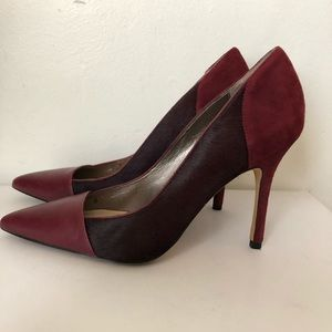 Sam Edelman Desiree mixed leather pointy heels sz8